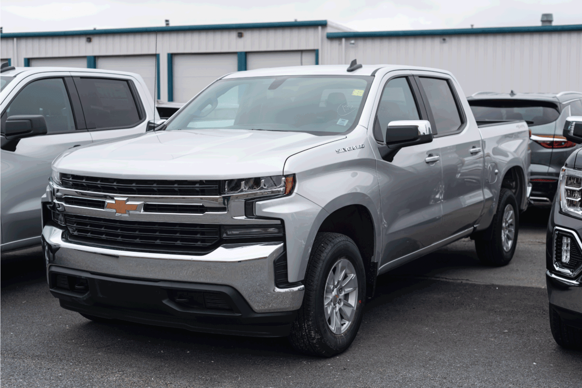 2021 Chevrolet Silverado 1500 Pickup Truck at a dealership.