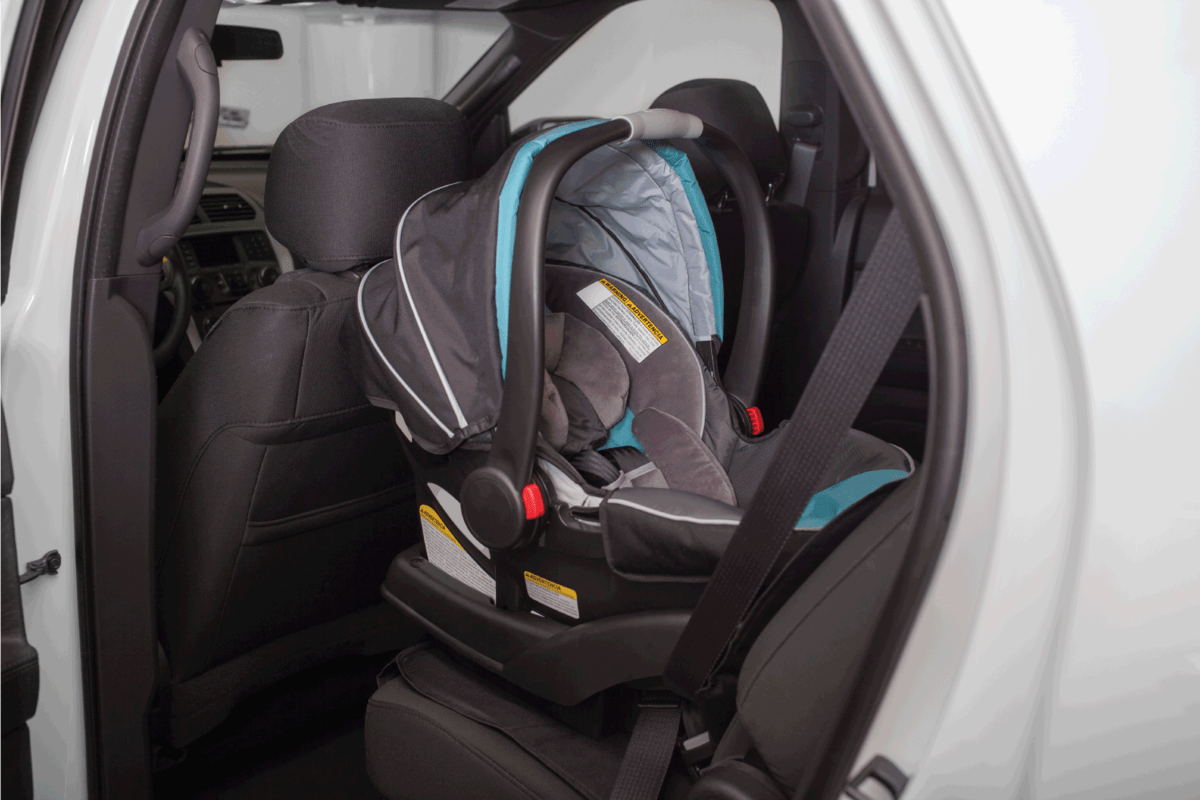Baby Seat in the backseat of the Car, door opened