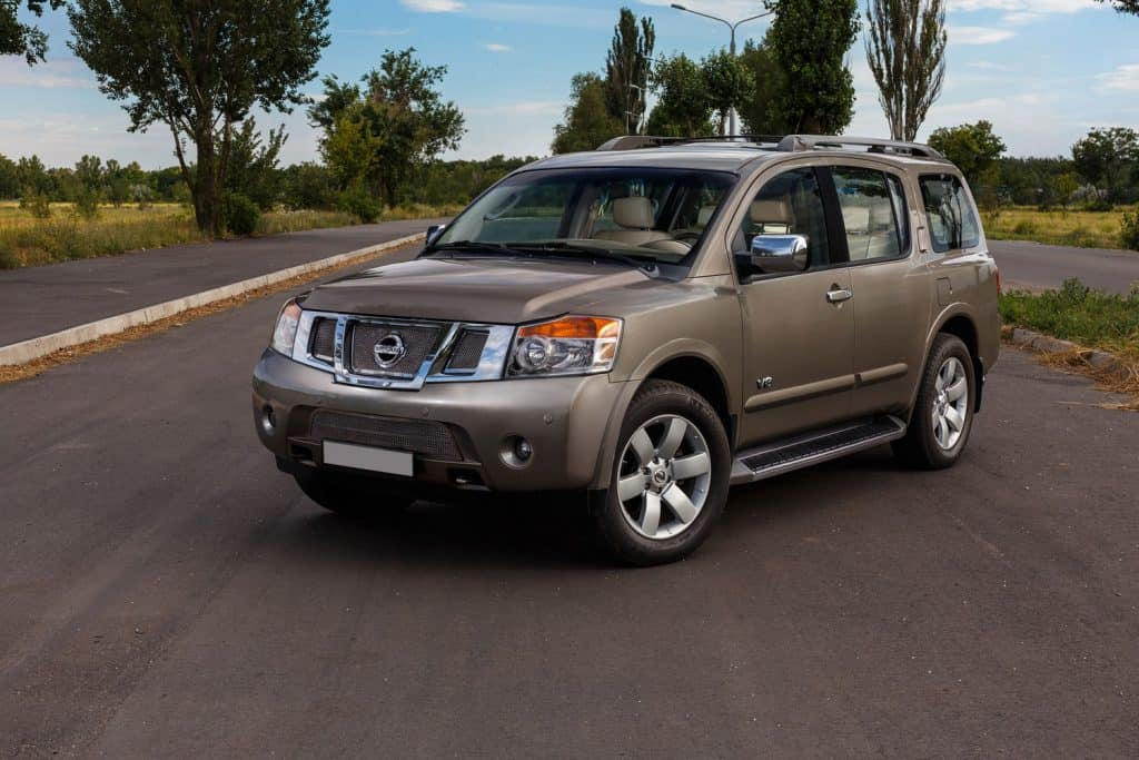 Beautiful Nissan Armada stands on the street