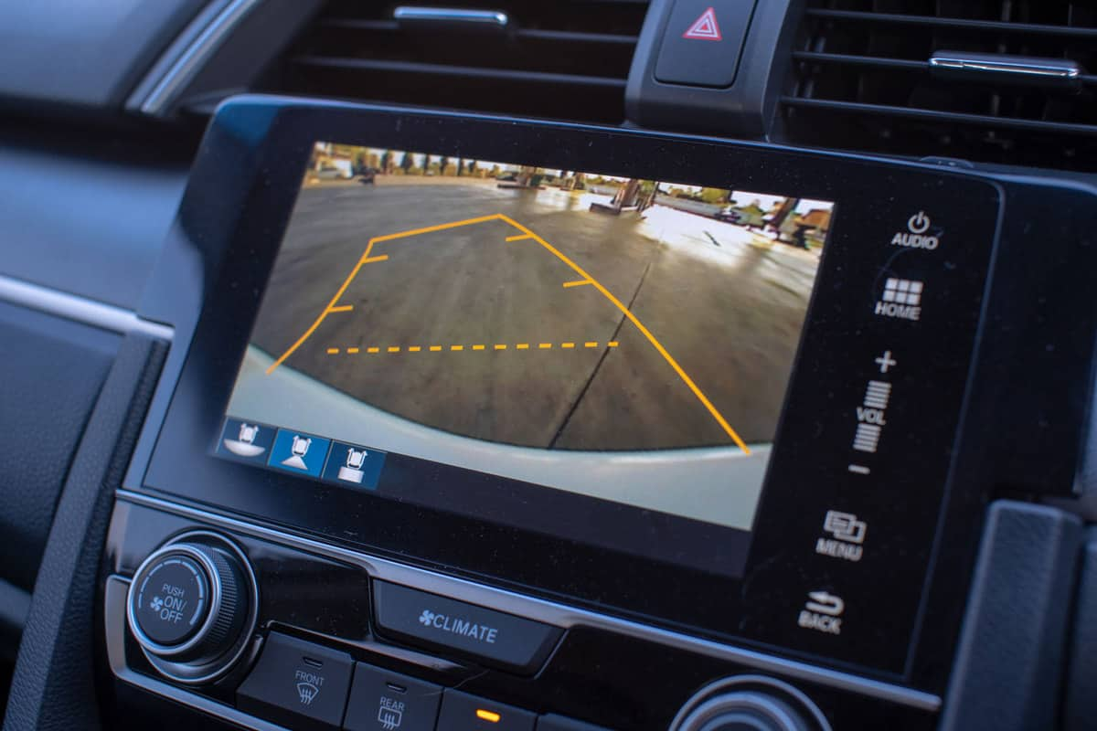 Car rear view system monitor reverse video camera