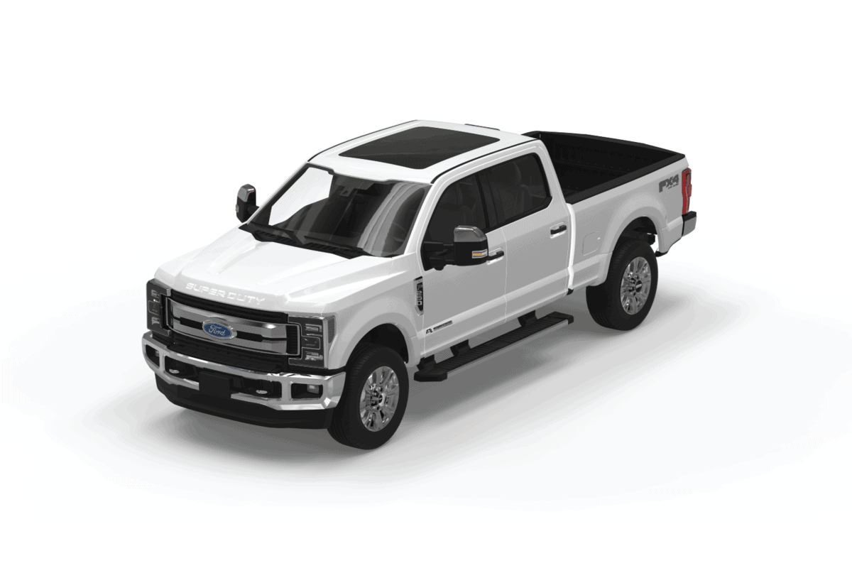 Ford F-150 truck white color On a white background