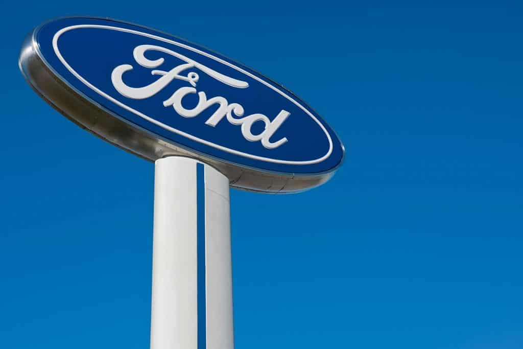 Ford sign at Ford dealership