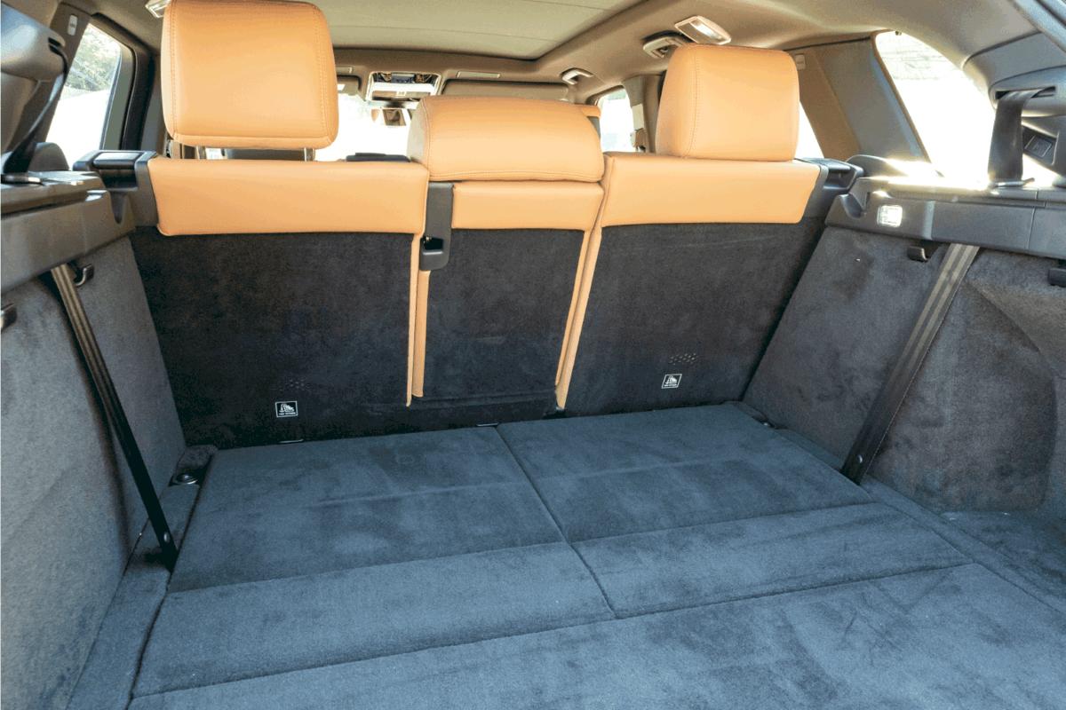 Range Rover Sport Interior, upholstered interior of a car