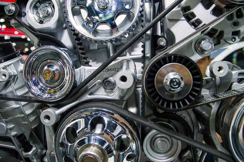 The engine of the truck
