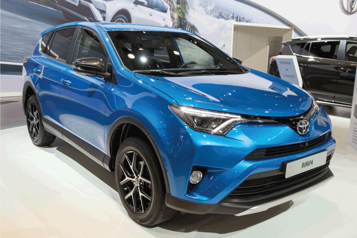 Toyota RAV4 on display at a motor show