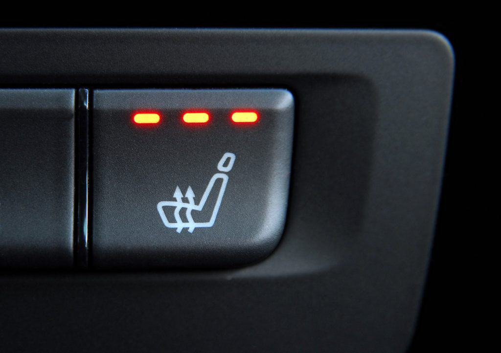 switch to activate the heater in the car seats
