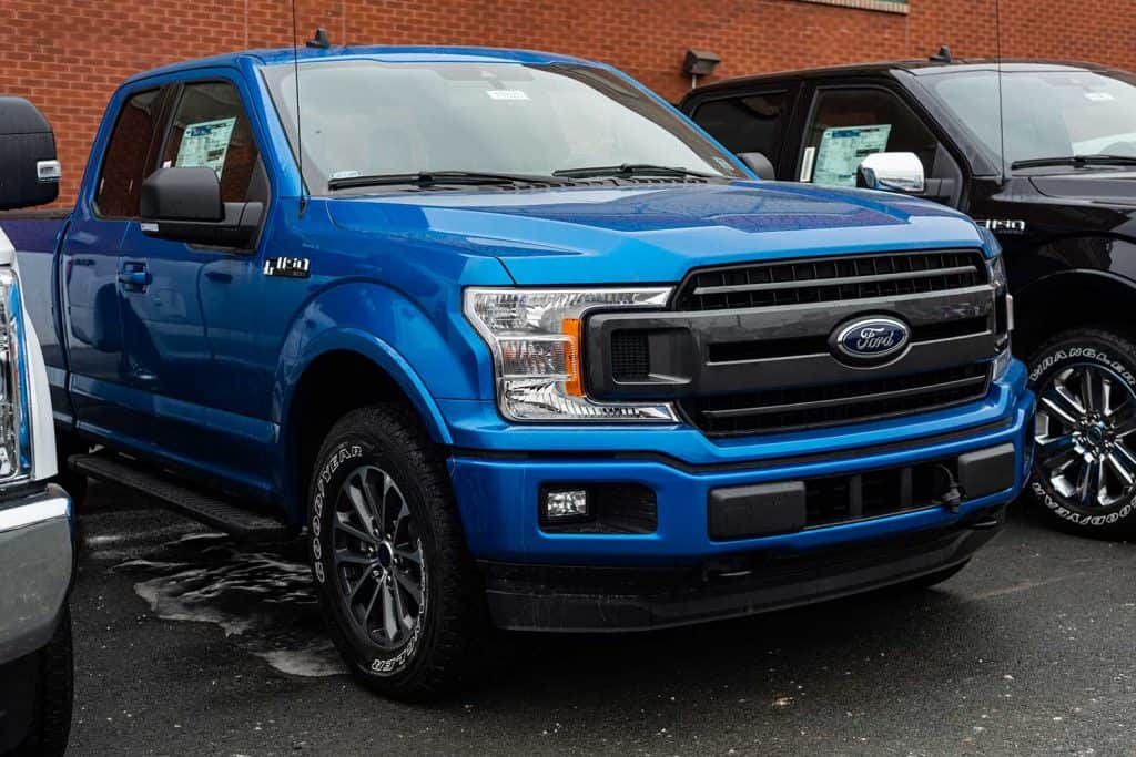 2020 Ford F-150 pickup truck at a dealership