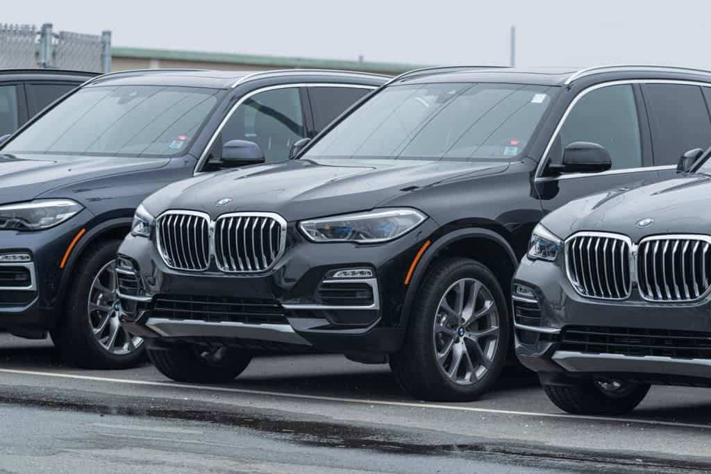 2021 BMW X5 sport utility vehicle at a dealership in the city's North End
