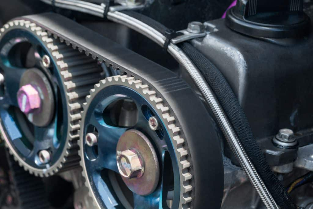 A photo of a cars timing belt