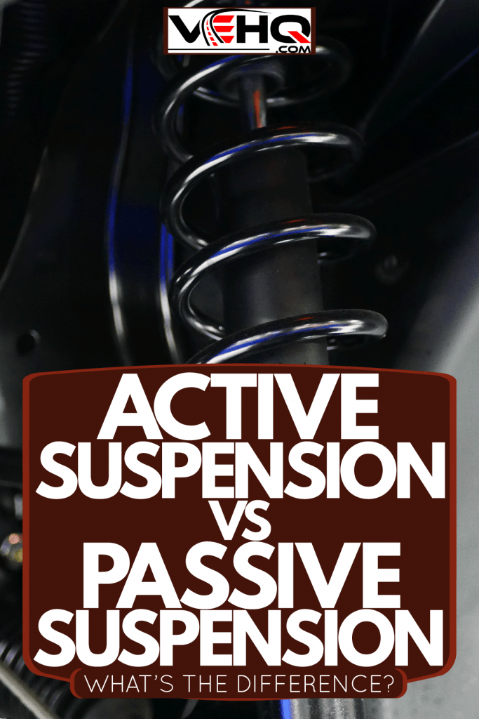 An up close photo of a car suspension, Active Suspension Vs Passive Suspension - What's The Difference?