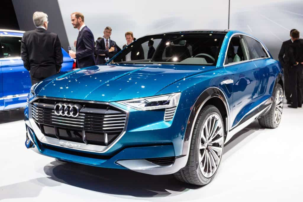 Audi e-tron quattro concept presented on the 66th International Motor Show in the Messe Frankfurt