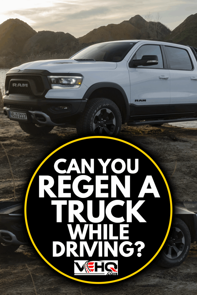RAM 1500 Rebel stopped next to lake in a sunset, Can You Regen A Truck While Driving?