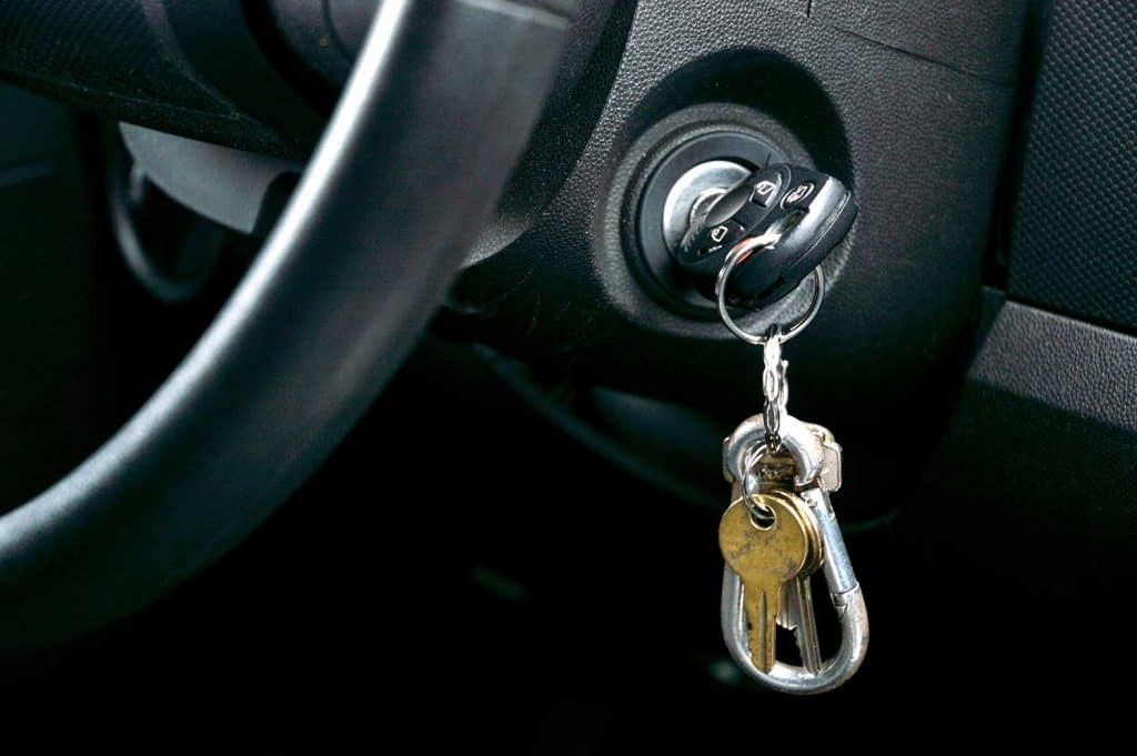 Car keys in the ignition
