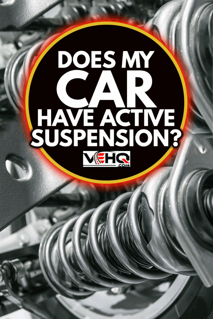 Close up photo of a car suspension system, Does My Car Have Active Suspension?