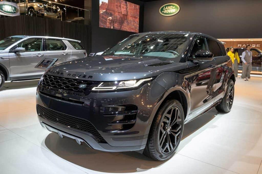 Land Rover Range Rover car showcased at the car show