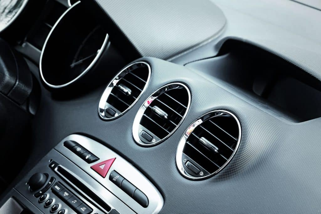 Three air conditioning blower inside a car