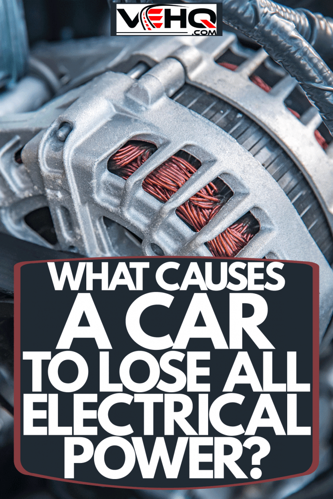 An up close photo of a car alternator, What Causes A Car To Lose All Electrical Power?