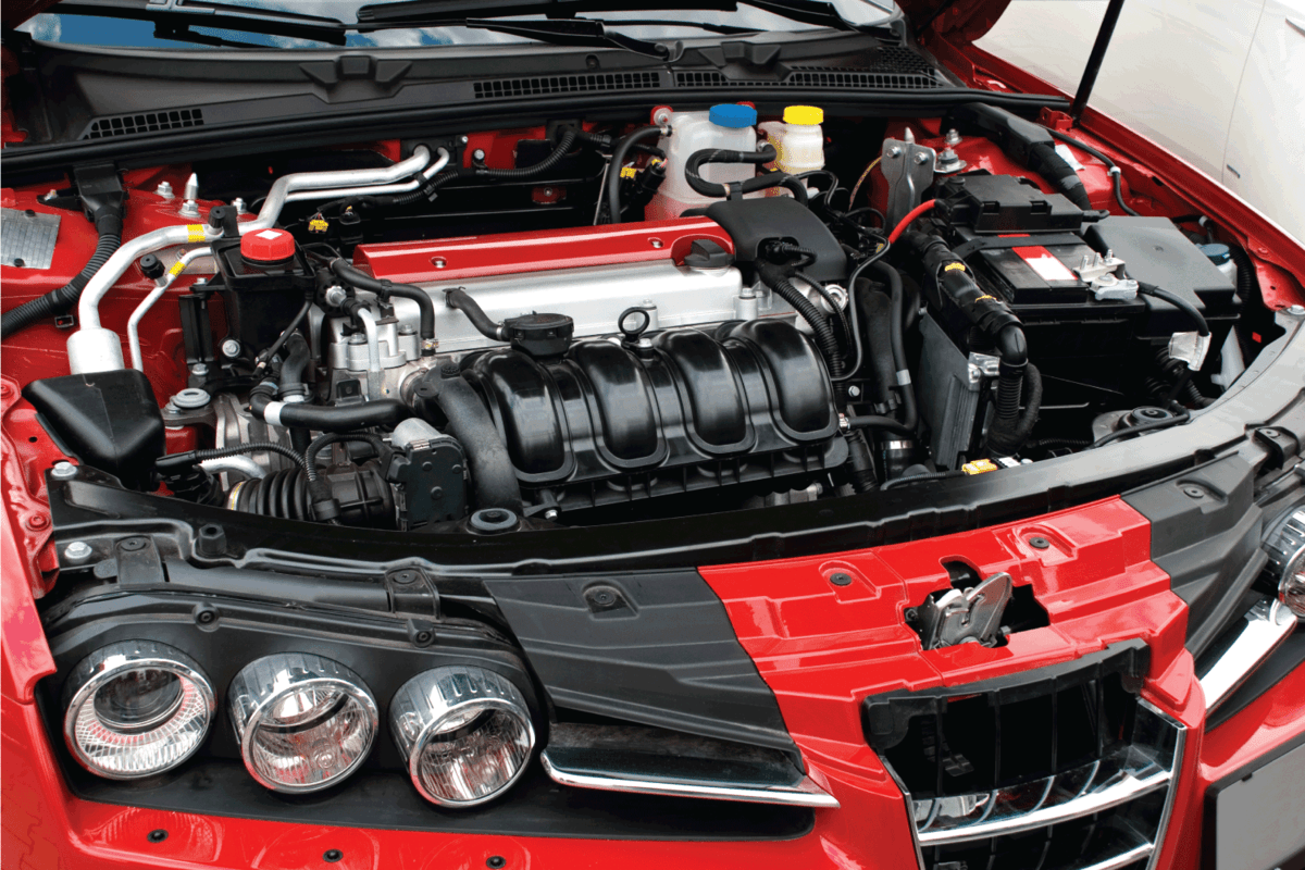 car hood engine bay open for viewing