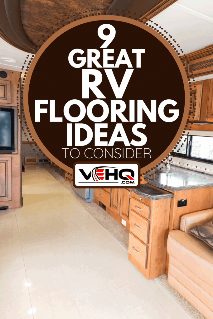 View of the inside of a new RV mobile home, 9 Great RV Flooring Ideas To Consider