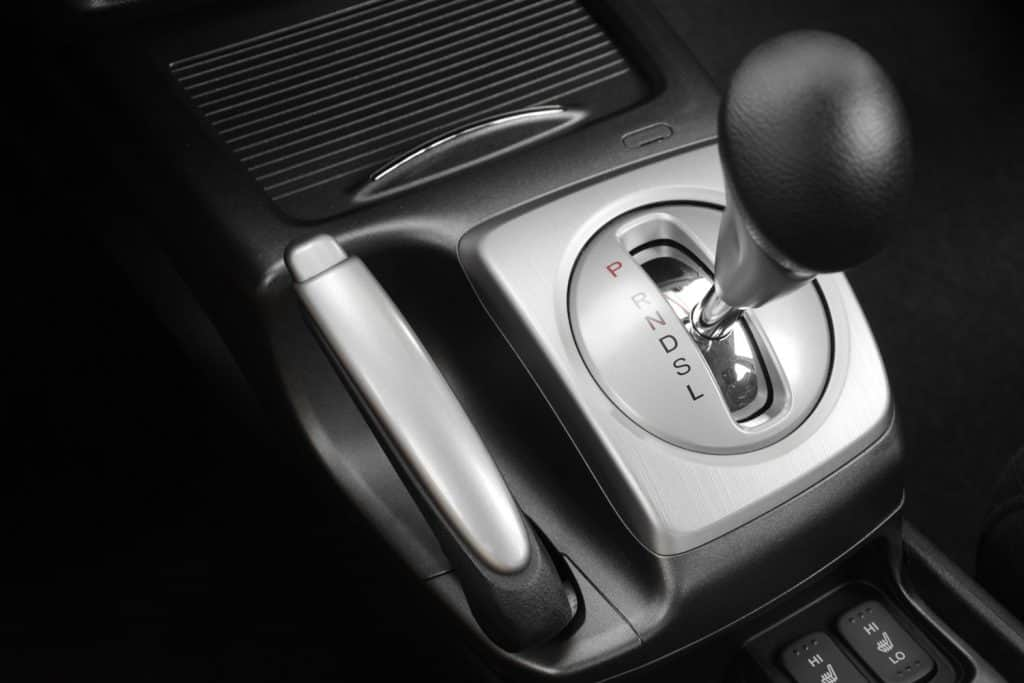 Automatic gear shifter placed on drive mode