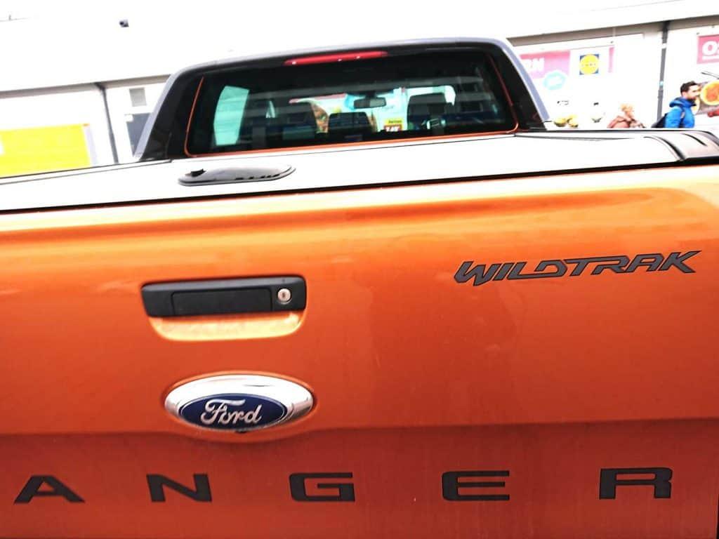 Back of a Ford Ranger Wildtrak