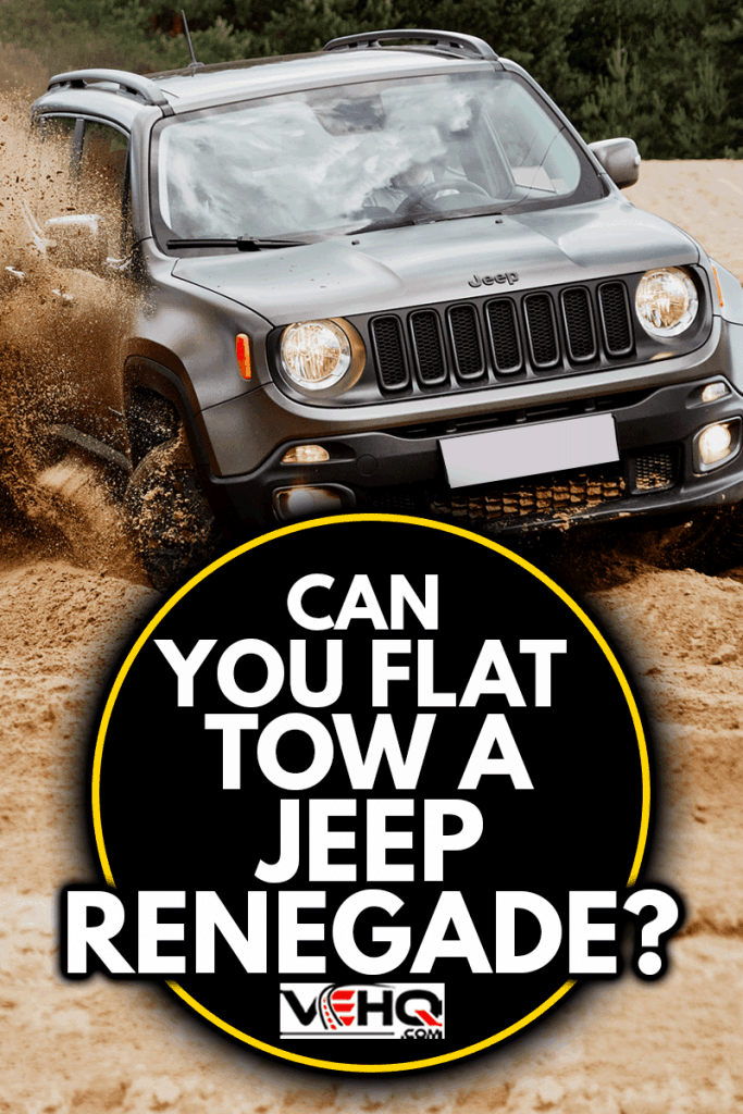 Fun in the desert with a 4x4 car. Jeep Renegade is doing great in the slushy sand, Can You Flat Tow A Jeep Renegade?