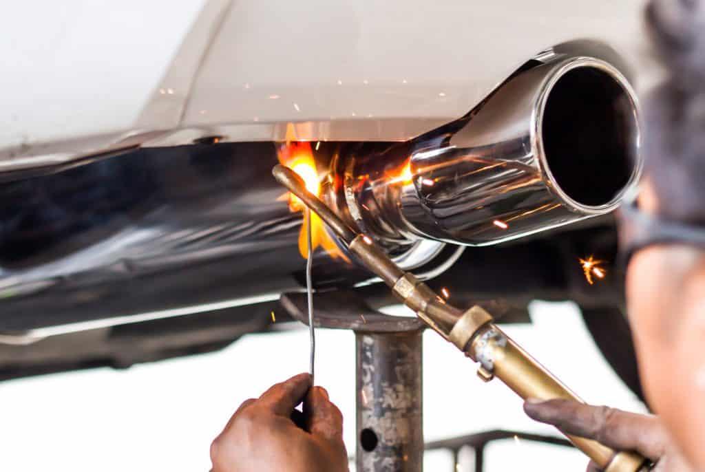 Car pipe installation