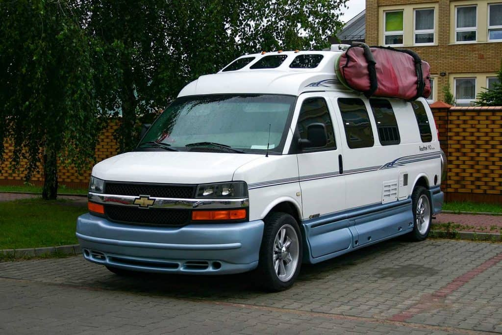 Classic camper Chevrolet 3500 on a parking