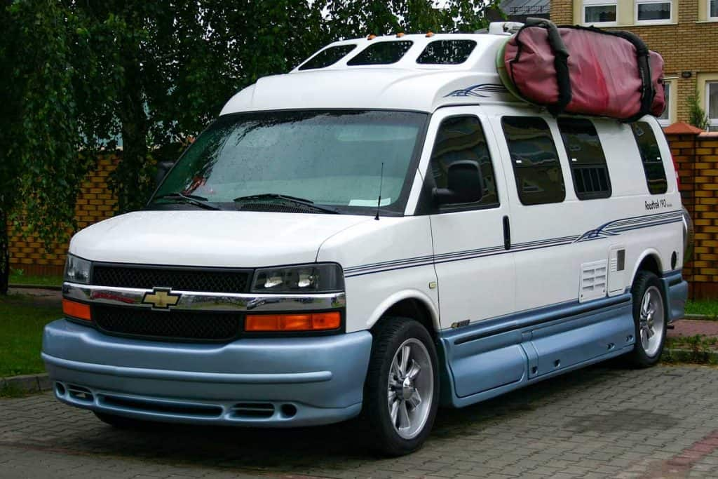 Classic camper van Chevrolet 3500 on a parking, How Long Do Chevy Express Vans Last?
