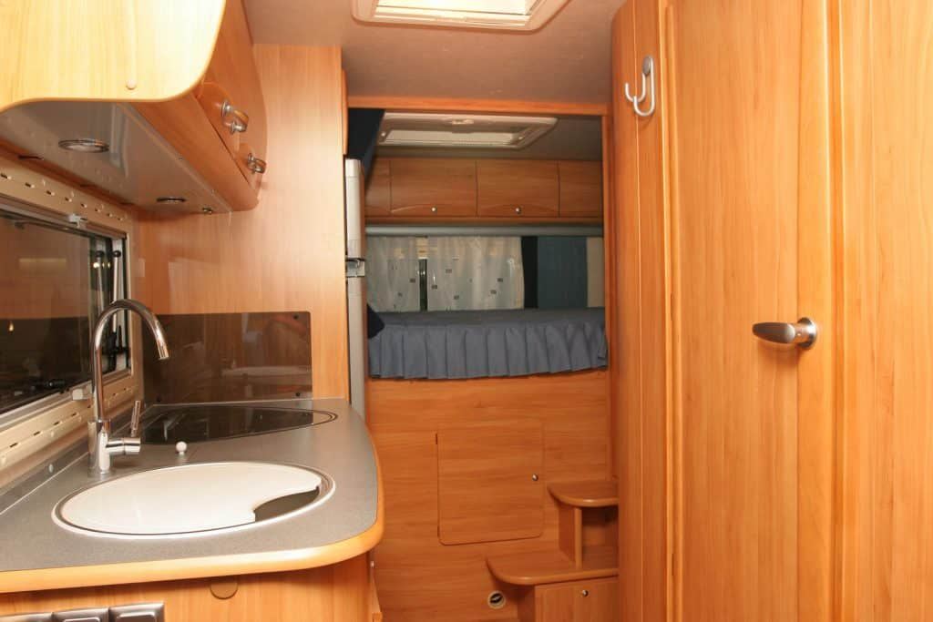 Compact interior of a bathroom motorhome with non working light , recreational vehicle, RV Bathroom Light Not Working - What To Do