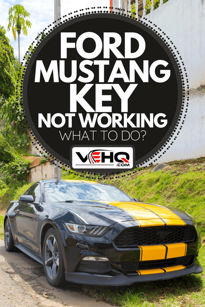 Black and yellow Mustang car parked in a city street, Ford Mustang Key Not Working - What To Do?