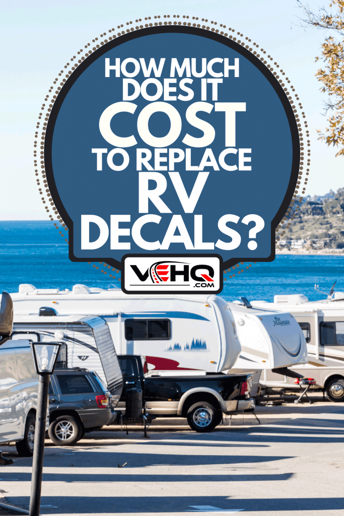 A winter RV camping view on beautiful coast, How Much Does It Cost To Replace RV Decals?