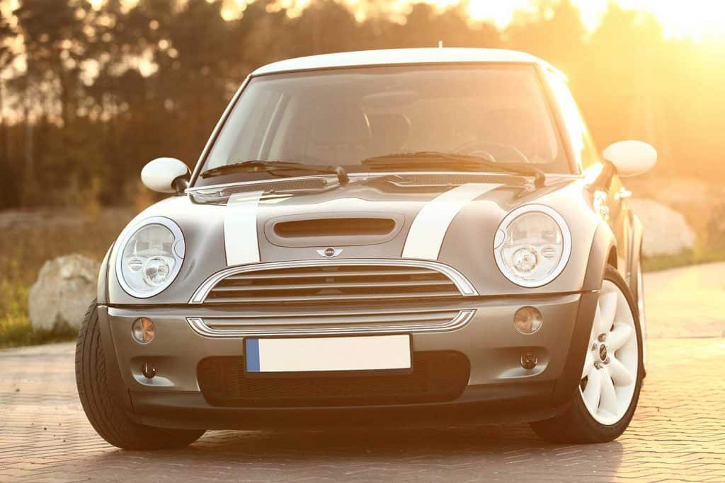 Mini Cooper S on the parking