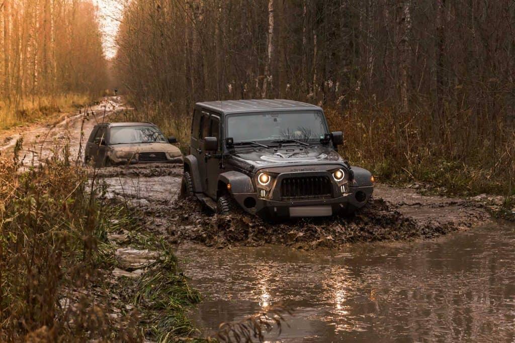 Off-road Jeep Wrangler