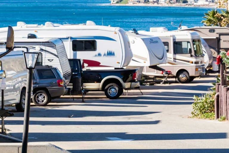 Winter RV camping view on beautiful coast, How Much Does It Cost To Replace RV Decals?