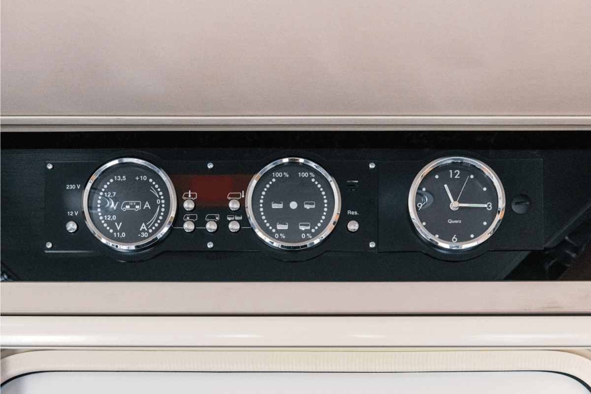 instruments of measurement in a Camper RV