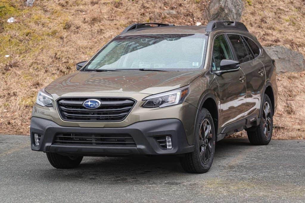 2021 Subaru Outback mid size wagon at a dealership