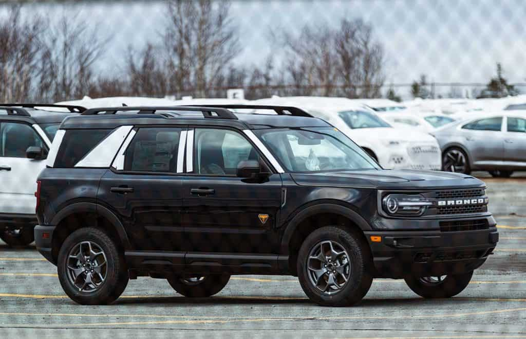 A 2021 Ford Bronco Sport at a parking lot