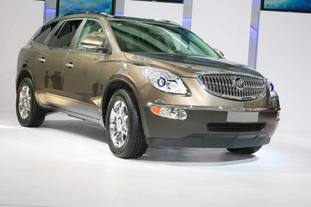 A Buick Enclave on display during an International Automobile Exhibition