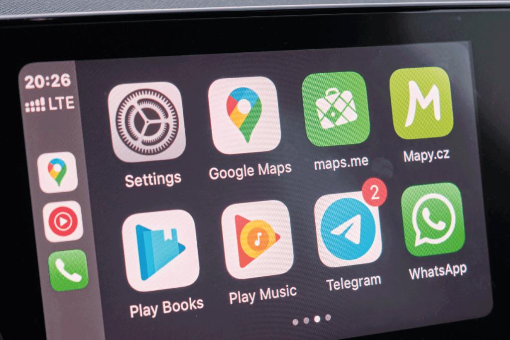 Apple CarPlay the screen in the main menu of the car dashboard. Car Entertainment. Does The Kia Sportage Have Apple CarPlay