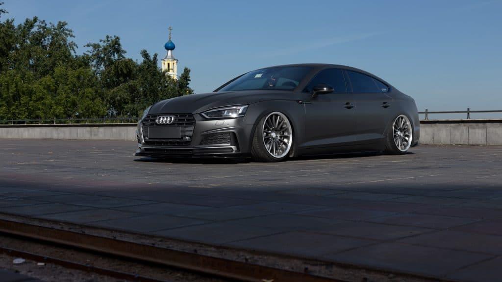 Audi A5 b9 sportback in city parking