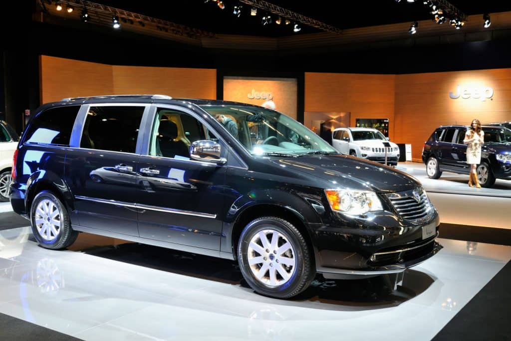 Black Lancia Grand Voyager Multi Purpose Vehicle on display at the 2011 Amsterdam Motor Show, How Much Does A Chrysler Voyager Weigh?