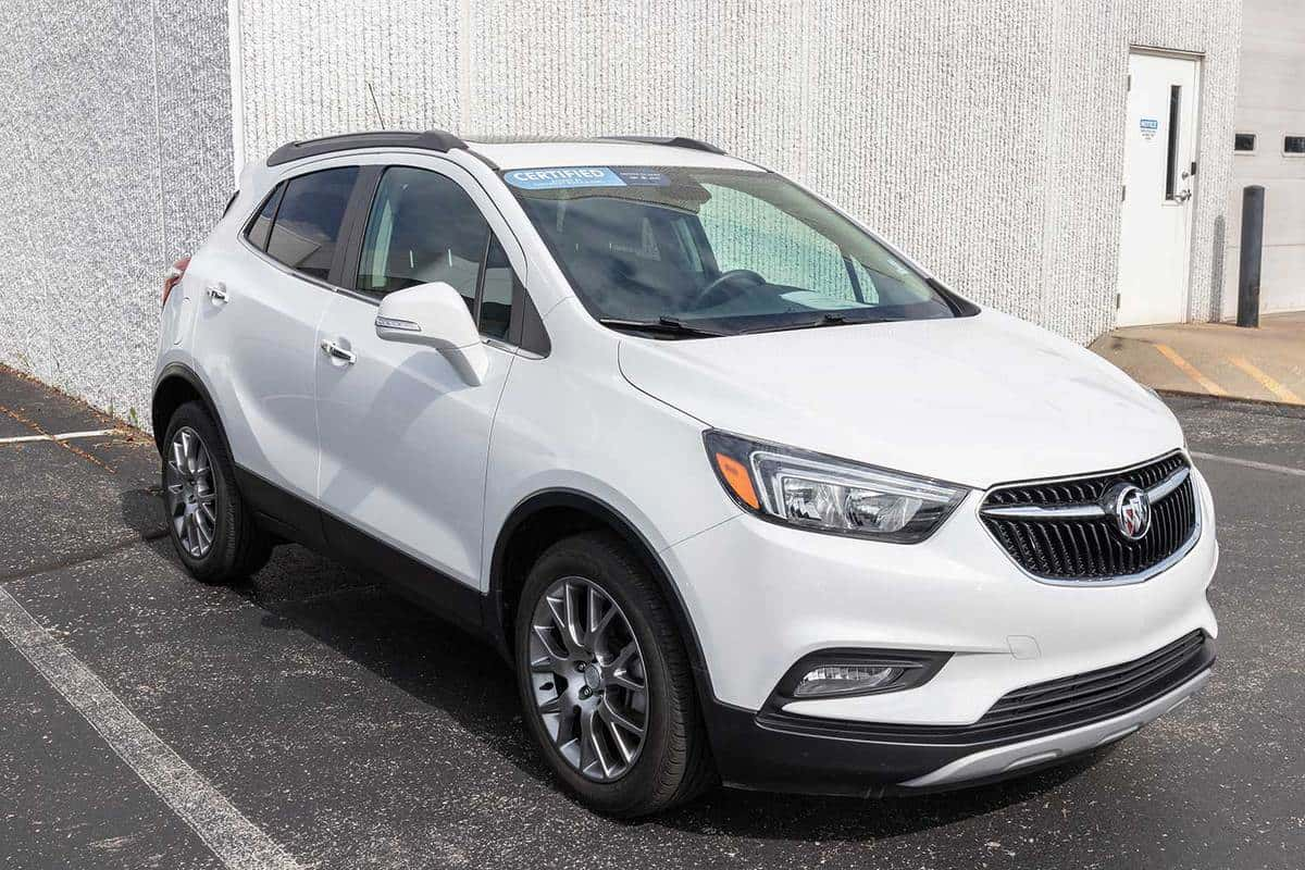 Buick Encore parked outside a building