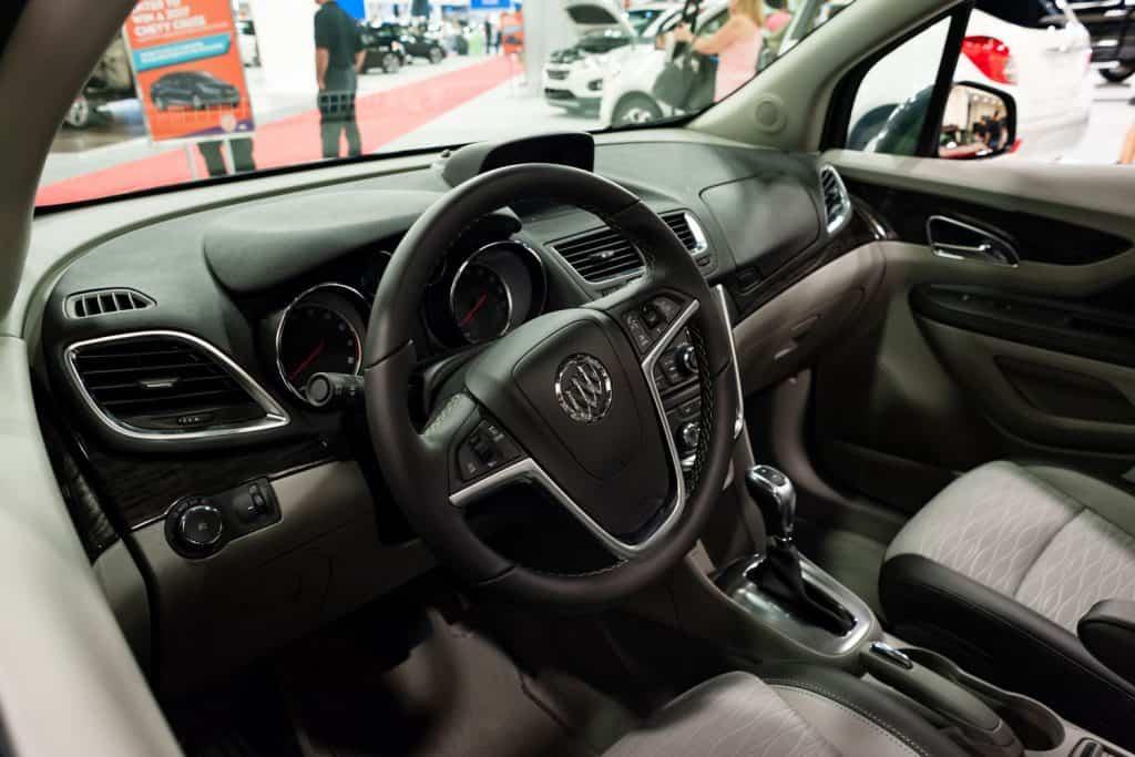 Close up interior of a buick encore interior at miami autoshow