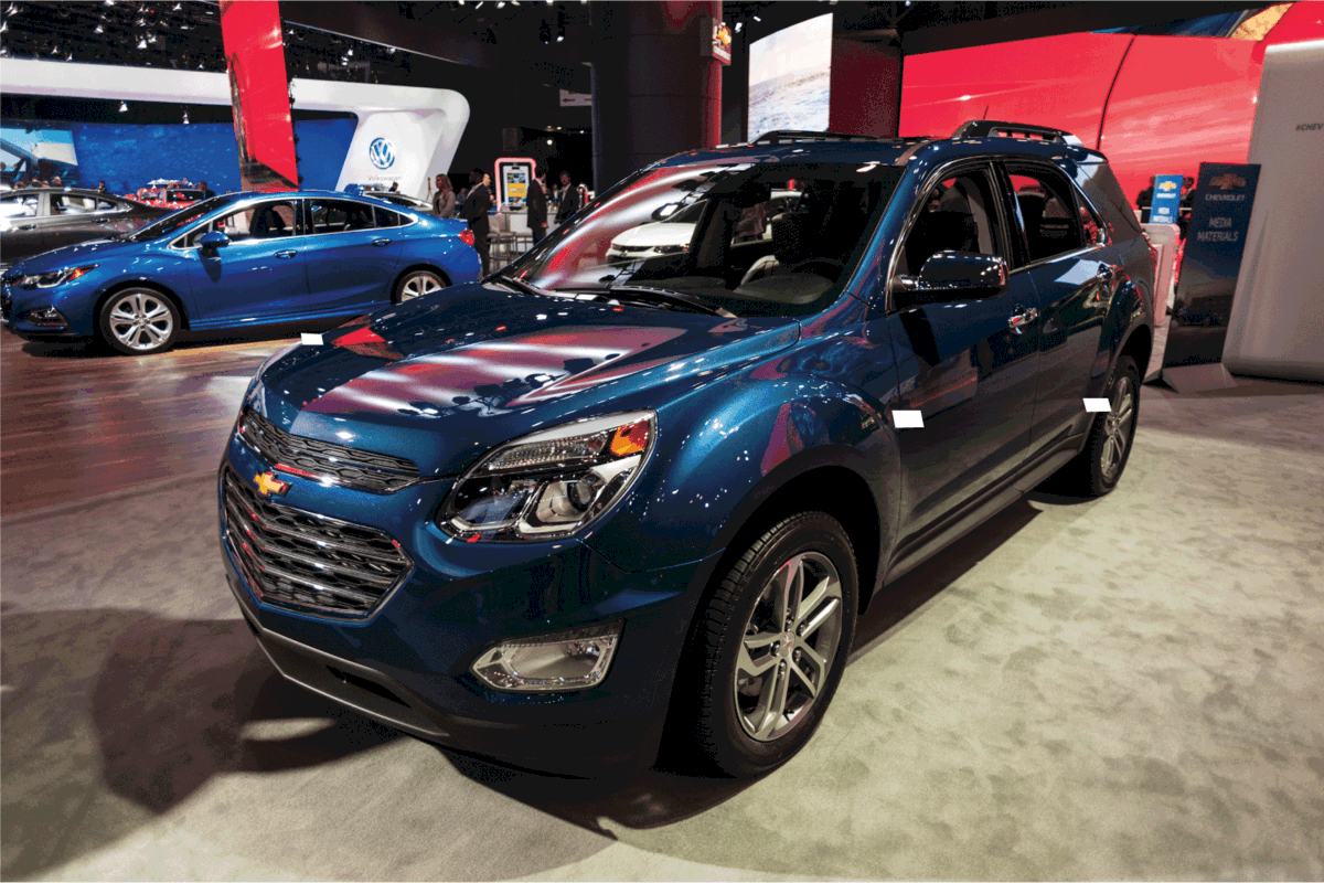 Chevrolet Equinox on display during the New York International Auto Show