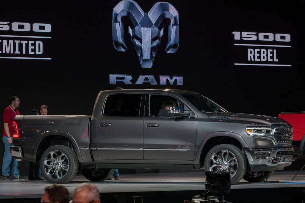 Dodge RAM 1500 on display during the North American International Auto Show, Does Ram 1500 Have Adaptive Cruise Control? [By Year And Model]