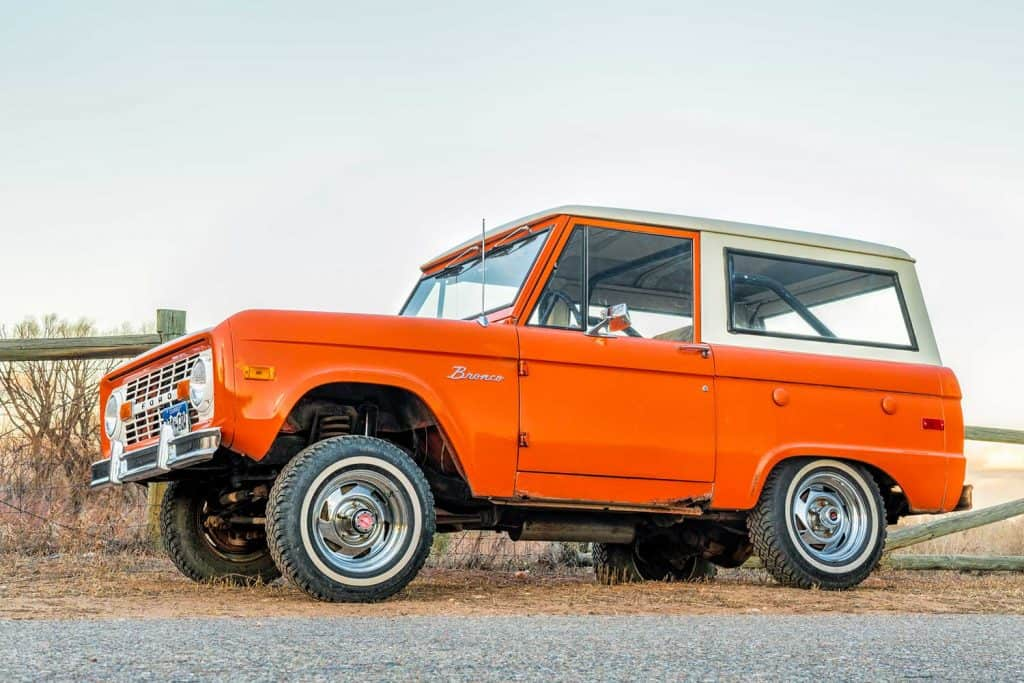 Ford Bronco ranger wagon parked on a rural road