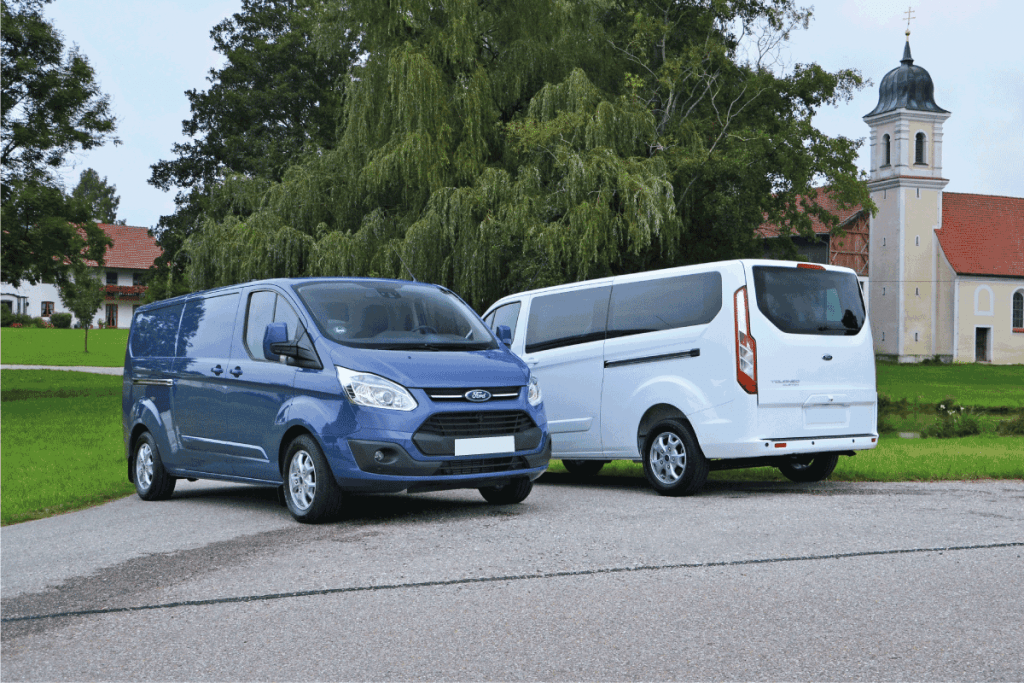 Ford Transit Custom and Tourneo Custom parked on the street. Ford Transit Not Accelerating - What Could Be Wrong