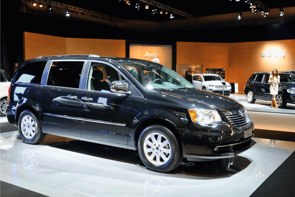 Grand Voyager Multi Purpose Vehicle on display at the 2011 Amsterdam Motor Show