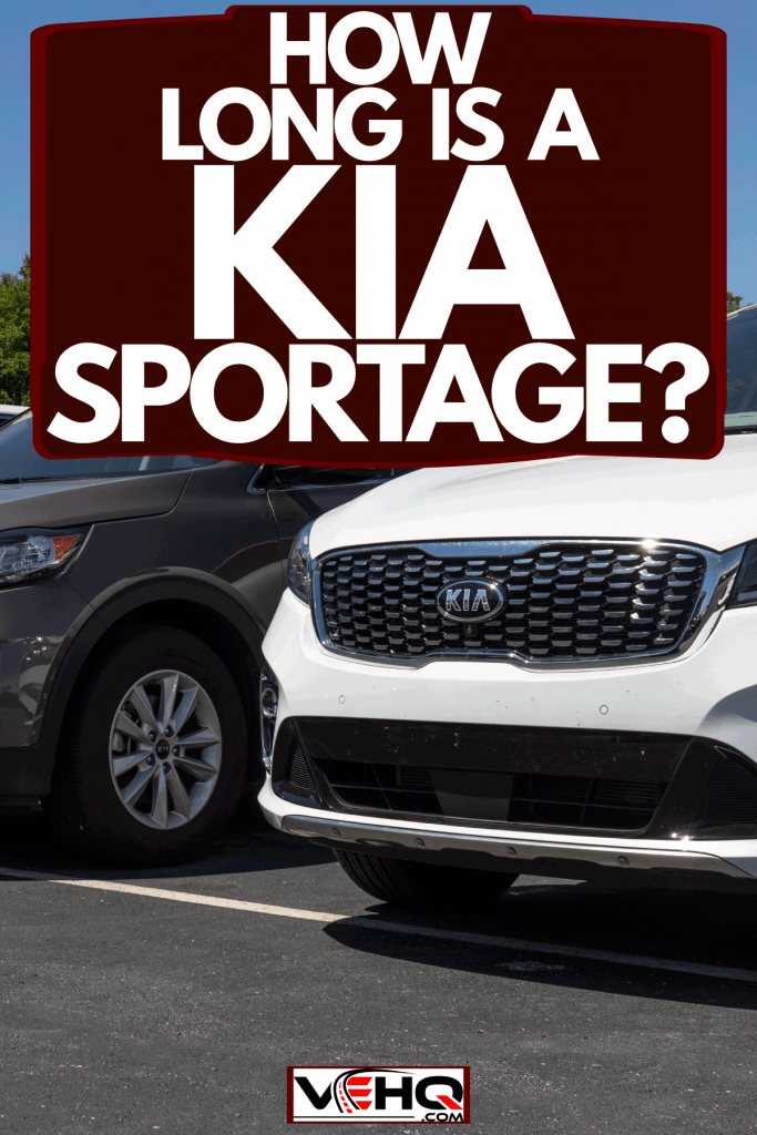Different colored Kia Sportage on a Hyundai Dealership, How Long Is A Kia Sportage?